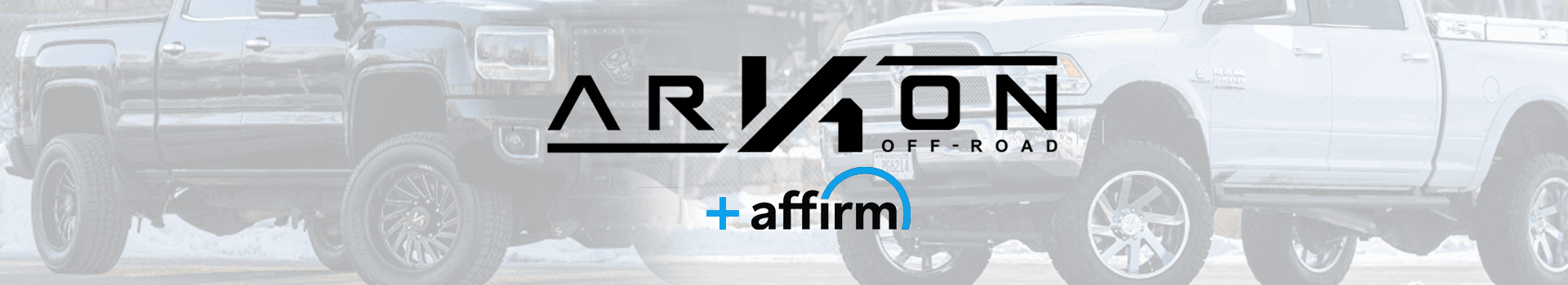 ARKON OFF-ROAD offers financing through Affirm
