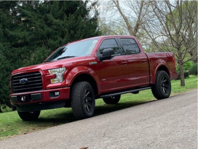 """2015 Ford F-150 - 20x9 -1mm - ARKON OFF-ROAD Lincoln - Leveling Kit - 33"""" x 12.5"""""""