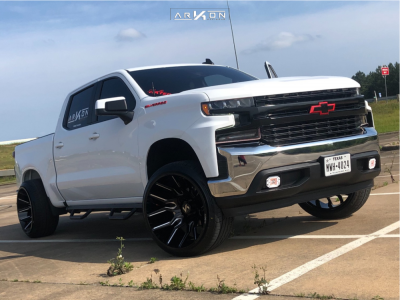 "2019 Chevrolet Silverado 1500 - 24x14 -81mm - ARKON OFF-ROAD Roosevelt - Suspension Lift 3"" - 305/35R24"