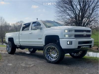 """2016 Chevrolet Silverado 2500 HD - 24x14 -81mm - ARKON OFF-ROAD Caesar - Suspension Lift 6.5"""" - 375/40R24"""