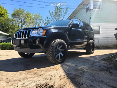 2006 Jeep Grand Cherokee - 20x10 -25mm - ARKON OFF-ROAD Lincoln - Leveling Kit - 265/50R20