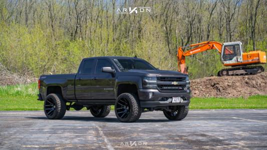 "2016 Chevrolet Silverado 1500 - 24x14 -81mm - ARKON OFF-ROAD Roosevelt - Suspension Lift 6"" - 35"" x 13.5"""