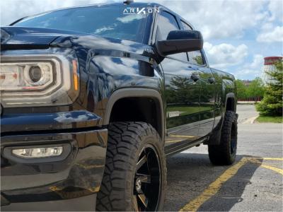 "2019 GMC Sierra 1500 Limited - 20x10 -25mm - ARKON OFF-ROAD Lincoln - Leveling Kit - 33"" x 12.5"""