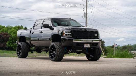 "2010 Chevrolet Silverado 1500 - 24x14 -81mm - ARKON OFF-ROAD Roosevelt - Suspension Lift 8"" - 35"" x 13.5"""