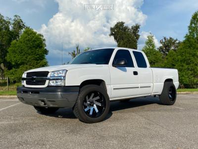 "2003 Chevrolet Silverado 1500 - 20x12 -51mm - ARKON OFF-ROAD Lincoln - Suspension Lift 3"" - 305/50R20"