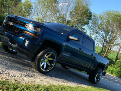 "2018 Chevrolet Silverado 1500 - 22x12 -51mm - ARKON OFF-ROAD Lincoln - Leveling Kit - 32"" x 12.5"""