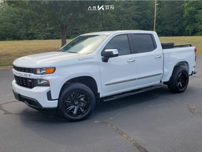 2019 Chevrolet Silverado 1500 - 20x10 -25mm - ARKON OFF-ROAD Lincoln - Stock Suspension - 305/50R20
