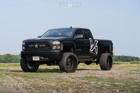 """2015 Chevrolet Silverado 1500 - 24x14 -81mm - ARKON OFF-ROAD Caesar - Suspension Lift 7"""" - 35"""" x 13.5"""""""