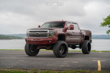"2015 Chevrolet Silverado 1500 - 24x14 -81mm - ARKON OFF-ROAD Crown Series Victory - Suspension Lift 7"" - 38"" x 13.5"""