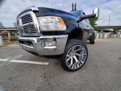 "2012 Dodge Ram 2500 - 22x14 -81mm - ARKON OFF-ROAD Lincoln - Suspension Lift 4.5"" - 33"" x 12.5"""