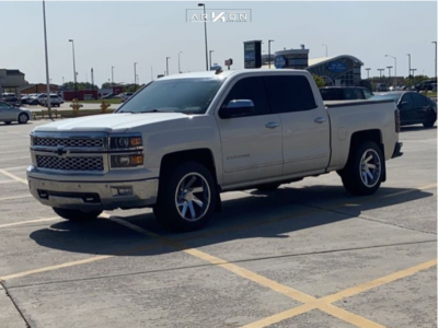 2014 Chevrolet Silverado 1500 - 20x10 -25mm - ARKON OFF-ROAD Lincoln - Stock Suspension - 275/55R20