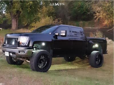 """2014 Chevrolet Silverado 1500 - 22x12 -51mm - ARKON OFF-ROAD Caesar - Suspension Lift 6"""" - 325/55R22"""