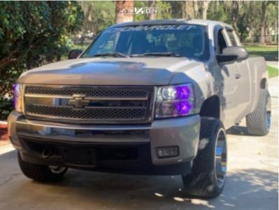"""2007 Chevrolet Silverado 1500 - 22x12 -51mm - ARKON OFF-ROAD Caesar - Level 2"""" Drop Rear - 31"""" x 12.5"""""""