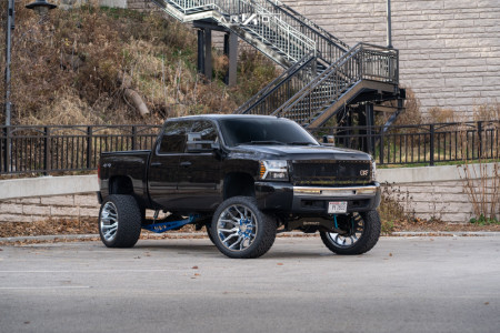 "2010 Chevrolet Silverado 1500 - 24x14 -81mm - ARKON OFF-ROAD Roosevelt - Suspension Lift 8"" - 35"" x 15.5"""