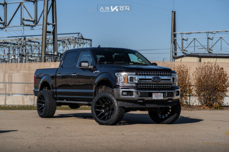 "2015 Ford F-150 - 22x12 -51mm - ARKON OFF-ROAD Roosevelt - Suspension Lift 6"" - 35"" x 12.5"""