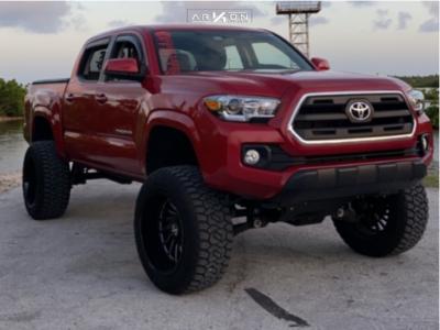 "2016 Toyota Tacoma - 20x12 -52mm - ARKON OFF-ROAD Caesar - Suspension Lift 6"" - 33"" x 12.5"""
