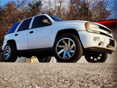"2002 Chevrolet Trailblazer - 20x10 -25mm - Arkon Off-road Lincolns - Suspension Lift 3"" - 275/55R20"