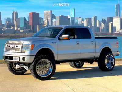 "2010 Ford F-150 - 24x14 -81mm - ARKON OFF-ROAD Crown Series Triumph - Suspension Lift 6.5"" - 37"" x 13.5"""
