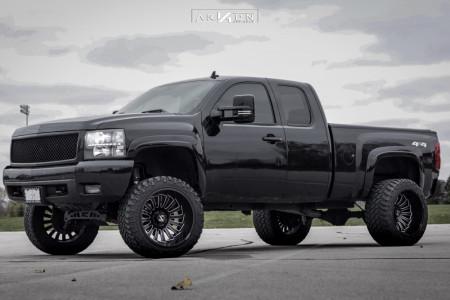 """2008 Chevrolet Silverado 1500 - 22x14 -81mm - ARKON OFF-ROAD Alexander - Suspension Lift 6"""" - 33"""" x 13.5"""""""