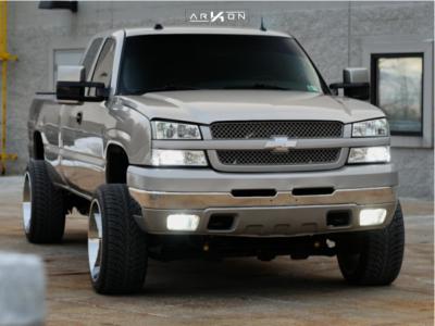 "2004 Chevrolet Silverado 2500 HD - 22x12 -51mm - ARKON OFF-ROAD Caesar - Leveling Kit - 32"" x 11.5"""