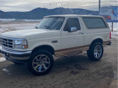 """1995 Ford Bronco - 20x10 -24mm - ARKON OFF-ROAD Lincoln - Leveling Kit - 33"""" x 12.5"""""""