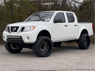 "2019 Nissan Frontier - 22x12 -51mm - ARKON OFF-ROAD Alexander - Suspension Lift 6"" - 33"" x 12.5"""