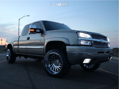 "2004 Chevrolet Silverado 2500 HD - 22x12 -51mm - ARKON OFF-ROAD Caesar - Leveling Kit - 31"" x 12.5"""