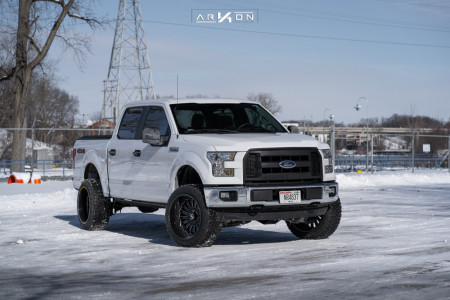 "2015 Ford F-150 - 22x12 -51mm - ARKON OFF-ROAD Alexander - Suspension Lift 4"" - 33"" x 12.5"""