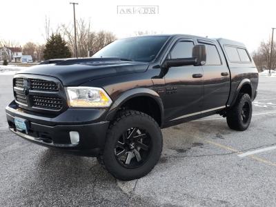 "2015 Ram 1500 - 20x10 -24.892mm - ARKON OFF-ROAD Lincoln - Suspension Lift 4"" - 35"" x 12.5"""