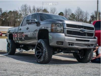 "2008 Chevrolet Silverado 2500 HD - 22x12 -51mm - ARKON OFF-ROAD Roosevelt - Suspension Lift 6"" - 35"" x 12.5"""