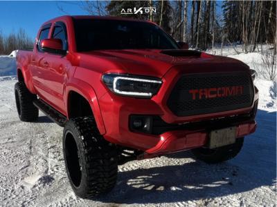 "2016 Toyota Tacoma - 22x12 -55mm - ARKON OFF-ROAD Caesar - Suspension Lift 6.5"" - 33"" x 12.5"""