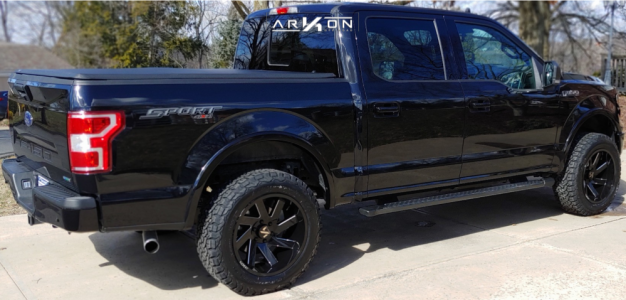 2020 Ford F-150 - 20x10 -25mm - ARKON OFF-ROAD Lincoln - Leveling Kit - 275/60R20