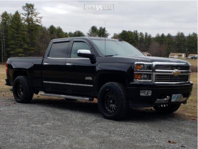 2015 Chevrolet Silverado 1500 - 20x10 -25mm - ARKON OFF-ROAD Caesar - Leveling Kit - 275/60R20