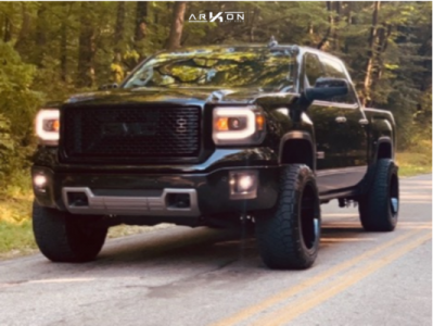"2015 GMC Sierra 1500 - 20x12 -51mm - ARKON OFF-ROAD Alexander - Suspension Lift 3"" - 33"" x 12.5"""