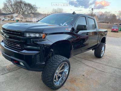 "2021 Chevrolet Silverado 1500 - 24x12 -51mm - ARKON OFF-ROAD Lincoln - Suspension Lift 9"" - 35"" x 13.5"""
