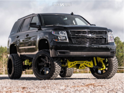 "2015 Chevrolet Tahoe - 22x12 -51mm - ARKON OFF-ROAD Lincoln - Suspension Lift 9"" - 35"" x 12.5"""