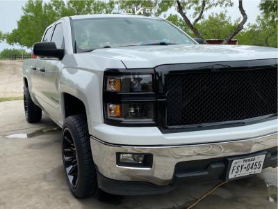 "2014 Chevrolet Silverado 1500 - 20x10 -25mm - ARKON OFF-ROAD Roosevelt - Suspension Lift 2.5"" - 275/45R20"