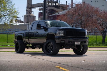 """2008 Chevrolet Silverado 1500 - 22x14 -81mm - ARKON OFF-ROAD Alexander - Suspension Lift 6"""" - 355/40R22"""