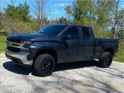 """2019 Chevrolet Silverado 1500 - 20x10 -25mm - ARKON OFF-ROAD Caesar - Suspension Lift 2.5"""" - 285/55R20"""