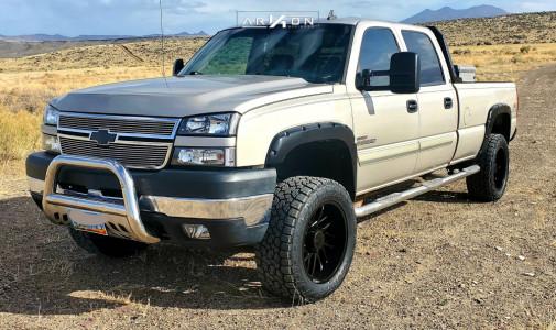 """2006 Chevrolet Silverado 2500 HD - 20x10 -24mm - ARKON OFF-ROAD Mandela - Suspension Lift 4"""" - 33"""" x 12.5"""""""