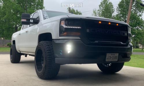 2016 Chevrolet Silverado 1500 - 20x12 -51mm - ARKON OFF-ROAD Caesar - Leveling Kit - 305/55R20