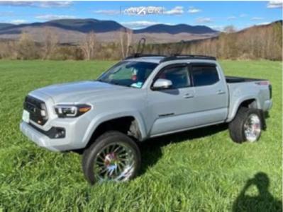 "2019 Toyota Tacoma - 22x12 -44mm - ARKON OFF-ROAD Caesar - Suspension Lift 4"" - 305/40R22"