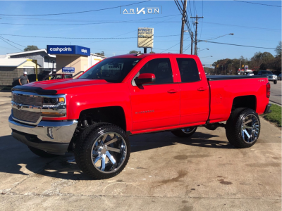 "2019 Chevrolet Silverado 1500 LD - 24x14 81mm - ARKON OFF-ROAD Lincoln - Suspension Lift 6.5"" - 35"" x 13.5"""