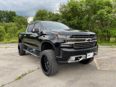 """2019 Chevrolet Silverado 1500 - 22x12 -51mm - ARKON OFF-ROAD Caesar - Suspension Lift 6"""" - 35"""" x 12.5"""""""