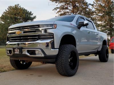 "2021 Chevrolet Silverado 1500 - 20x12 -51mm - ARKON OFF-ROAD Lincoln - Suspension Lift 6"" - 35"" x 12.5"""
