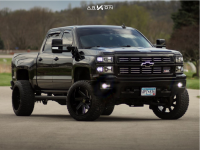"2015 Chevrolet Silverado 1500 - 22x12 -51mm - ARKON OFF-ROAD Lincoln - Suspension Lift 5"" - 33"" x 12.5"""