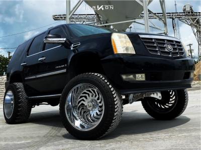 "2007 Cadillac Escalade - 24x14 144mm - ARKON OFF-ROAD Crown Series Victory - Suspension Lift 9"" - 38"" x 13.5"""