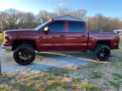 "2014 Chevrolet Silverado 1500 - 20x12 -51mm - ARKON OFF-ROAD Lincoln - Suspension Lift 3"" - 33"" x 12.5"""