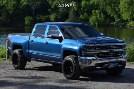 "2018 Chevrolet Silverado 1500 - 20x12 -51mm - ARKON OFF-ROAD Caesar - Leveling Kit - 33"" x 12.5"""