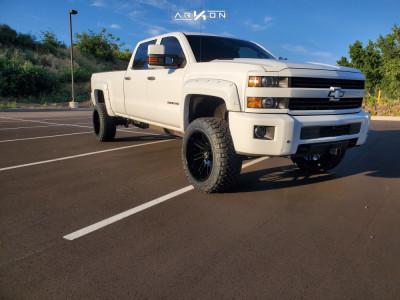 "2016 Chevrolet Silverado 2500 HD - 22x12 -55mm - ARKON OFF-ROAD Davinci - Suspension Lift 3"" - 35"" x 12.5"""